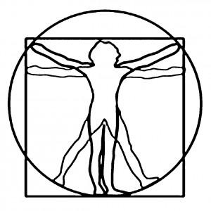 vitruvio stilizzato
